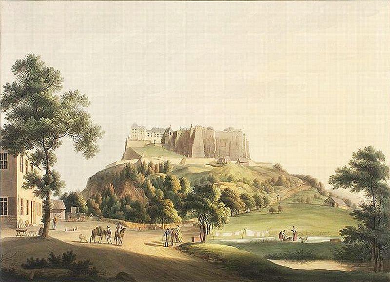 pevnost Königstein v roce 1830